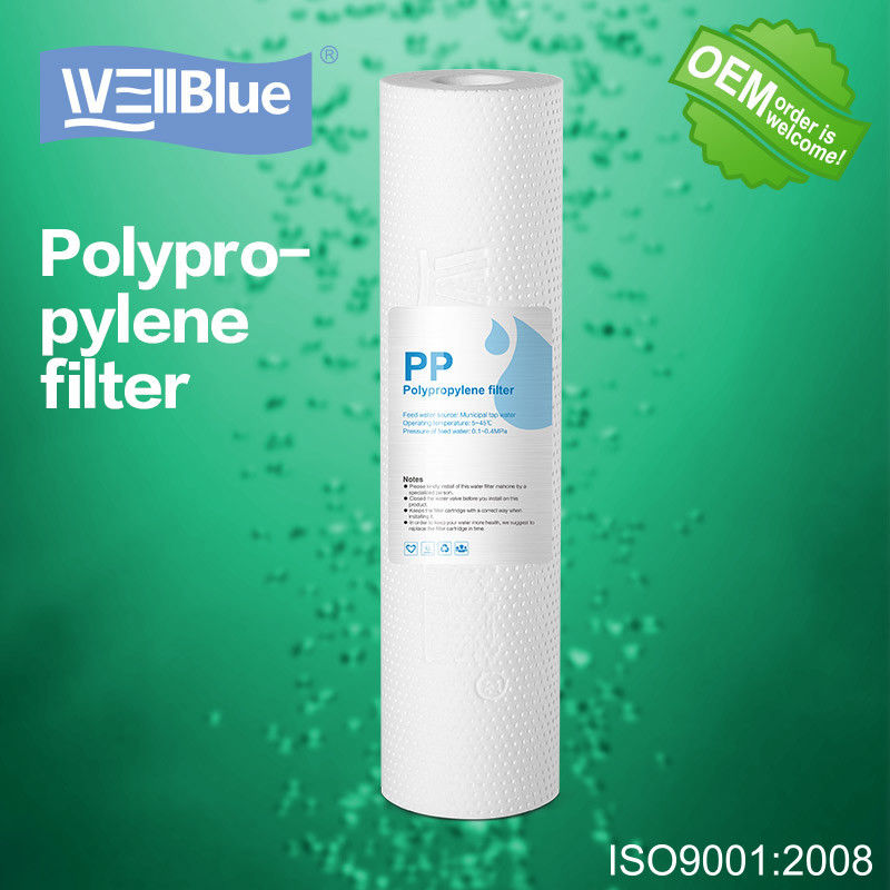 10 Inch PP Cotton Sediment Filter Cartridge , 5 Micron Drinking Water Filter