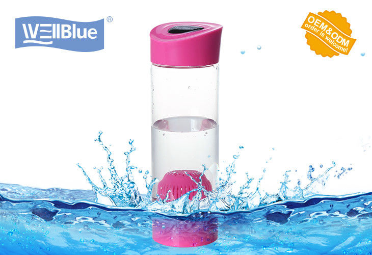 Food Grade Pink Alkaline Ionized Water Bottles For Daily Water Purify